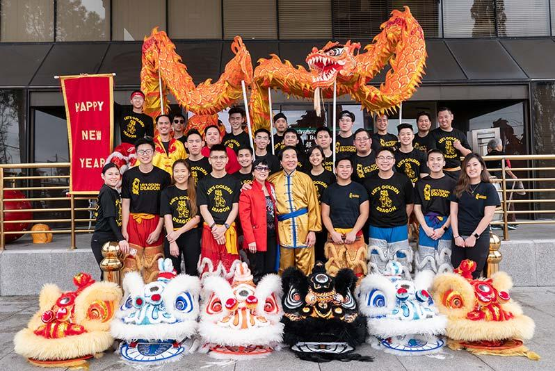 Lee's Golden Dragon Troupe in 2019